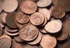 Euro centów tło Obrazy Stock