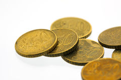 euro cent 4 50 monety Zdjęcia Royalty Free