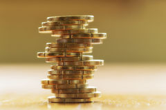 Euro cent. A close up of a stack euro cent royalty free stock images