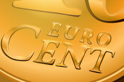 Euro cent coin. Close-up. EPS 10 format Stock Image