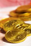 Euro cent coins Royalty Free Stock Photography