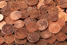 Euro cent coins Stock Photos