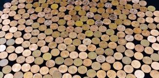 Euro-cent coins Royalty Free Stock Photos