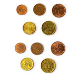 Euro cent coins set Royalty Free Stock Image