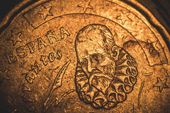 20 euro cent 1999 espana. Old 20 euro cent 1999 espana Royalty Free Stock Image