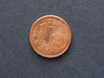 1 euro cent et x28 ; EUR& x29 ; pièce de monnaie Photographie stock libre de droits