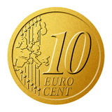10 euro cent. Royalty Free Stock Photo