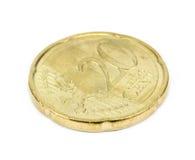 Euro cent on white background Stock Photo