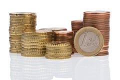 Euro- centavos fotos de stock