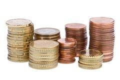 Euro- centavos imagens de stock royalty free