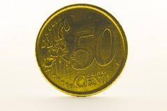50 euro- centavos Imagens de Stock