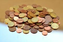 Euro centbos Stock Foto's