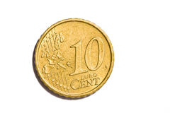10 euro centesimi Fotografie Stock