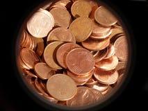 Euro centesimi Fotografia Stock Libera da Diritti
