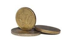 Euro centesimi Fotografie Stock Libere da Diritti