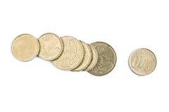 Euro centesimi Immagini Stock Libere da Diritti