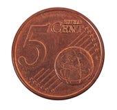 Euro centesimi Fotografia Stock