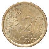 20 euro centesimi Fotografie Stock