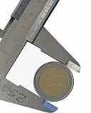 Euro centesimo Fotografia Stock Libera da Diritti