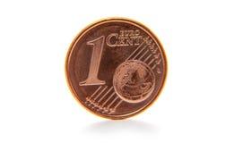 Euro centesimo Fotografia Stock