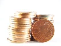Euro centesimo Immagine Stock Libera da Diritti