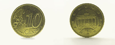 10 euro centesimo 2002 Fotografie Stock