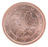 Euro centmuntstuk Stock Foto