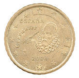 Euro centmuntstuk Stock Foto's
