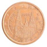 Euro centmuntstuk Stock Fotografie