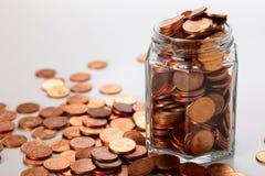 Euro centmuntstukken royalty-vrije stock afbeelding