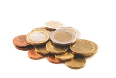 Euro cents Royalty Free Stock Photos