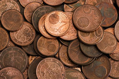 Euro cents Royalty Free Stock Images