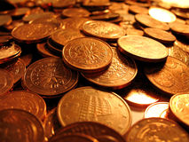 Euro cents 2. European money, cents, value 1, 2, 5 royalty free stock image
