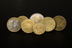 4 Euro 50 Cents (4,50 €) in Coins Stock Images