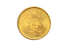 Euro cents de Ville du Vatican 50 Images stock