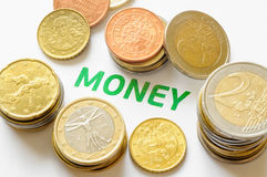 Euro, Cents and Money Royalty Free Stock Photography