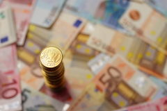 10 euro cents Royalty Free Stock Photo