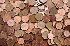 Euro cents texture. Background of euro cents european coins Stock Images