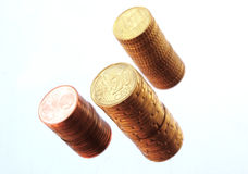 Euro centstapel Stock Foto's