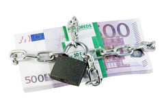 Euro, Chained and Locked Stock Photography