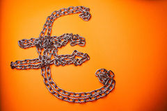 Euro Chains Royalty Free Stock Photography