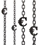 Euro chains Royalty Free Stock Images