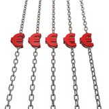 Euro chains Stock Photography
