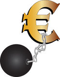 Euro In Chains Stock Photos