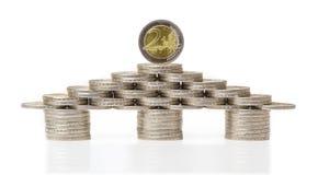 Euro Chambre, pièces de monnaie, investissement Photo stock
