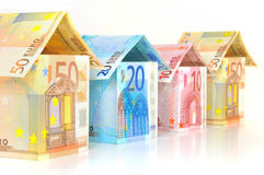 Euro Chambres Images libres de droits