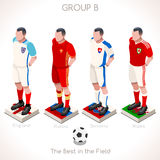 EURO 2016 Championship GROUP B. France EURO 2016 Championship Infographic Qualified Soccer Players GROUP B. Football Game Jersey flags of final participating Stock Photo