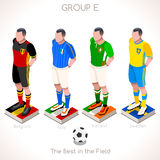 EURO 2016 Championship GROUP E. France EURO 2016 Championship Infographic Qualified Soccer Players GROUP E. Football Game Jersey flags of final participating Stock Image