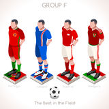 EURO 2016 Championship GROUP F. France EURO 2016 Championship Infographic Qualified Soccer Players GROUP F. Football Game Jersey flags of final participating Stock Image