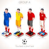 EURO 2016 Championship GROUP A Royalty Free Stock Images